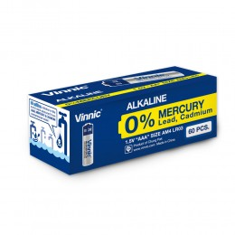 高性能鹼性電池 AAA  (無水銀) (60粒盒裝)