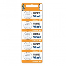 鈕型鋰電池 CR2430 (5粒咭裝) x 5